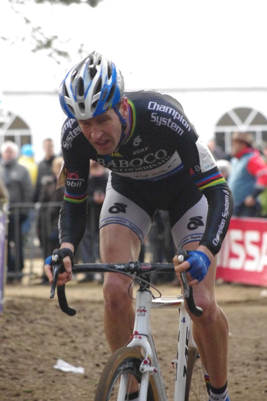 Erwin Vervecken racing in one of the last races of a storied career. ? Jonas Bruffaerts