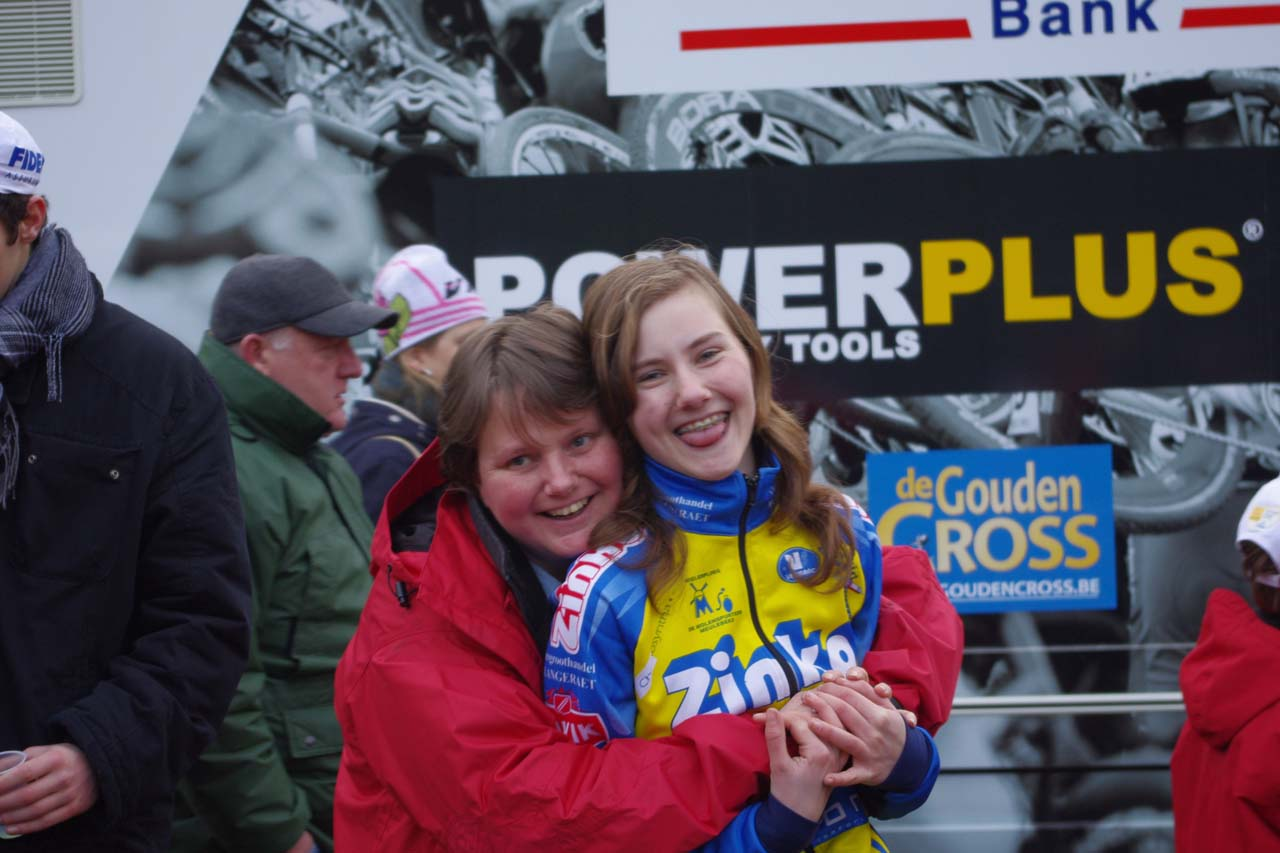 Femke Laansens and mom Anneke - big supporters of mine. ? Jonas Bruffaerts