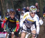 Nys (l) chases Stybar through a tight turn. ? Jonas Bruffaerts