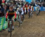 Sven Nys leads a group through the sand. ? Bart Hazen