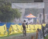 Rain shrouds the finish at OVCX race 3, Gunclub Cross. © Kent Baumgardt