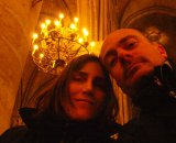 Christine and Jonas inside Notre Dame ©Christine Vardaros