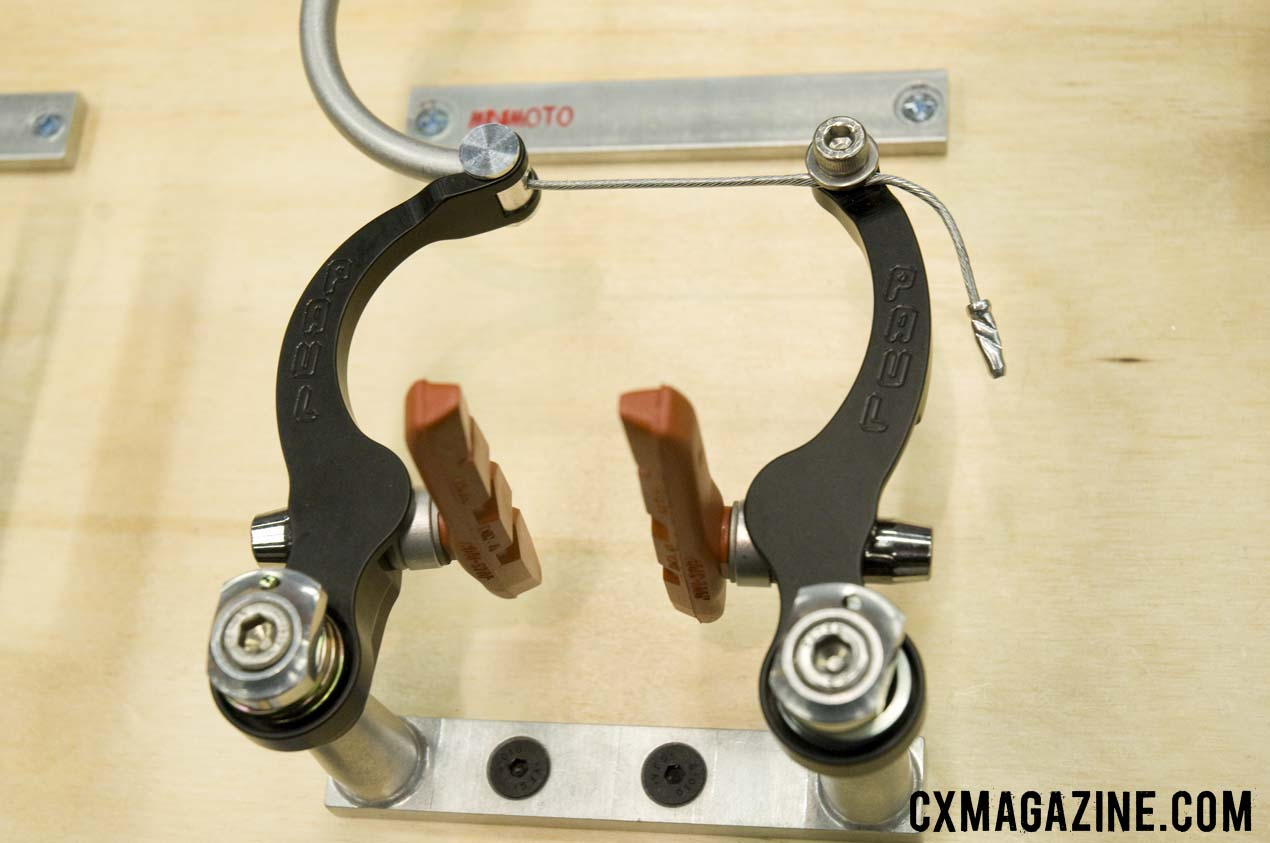 Paul Component Engineering\'s new MiniMoto linear-pull brake will be available at the end of April and will retail for $129 per brake for the black or silver version and $141 for the polished model. © Kevin White