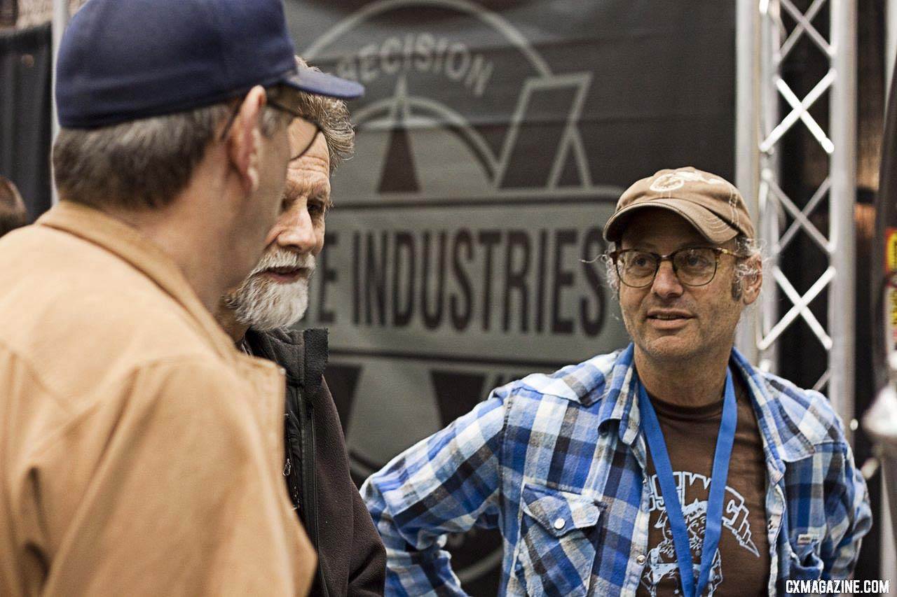 Paul Sadoff of Rock Lobster had plenty of fans at NAHBS 2012. ©Cyclocross Magazine