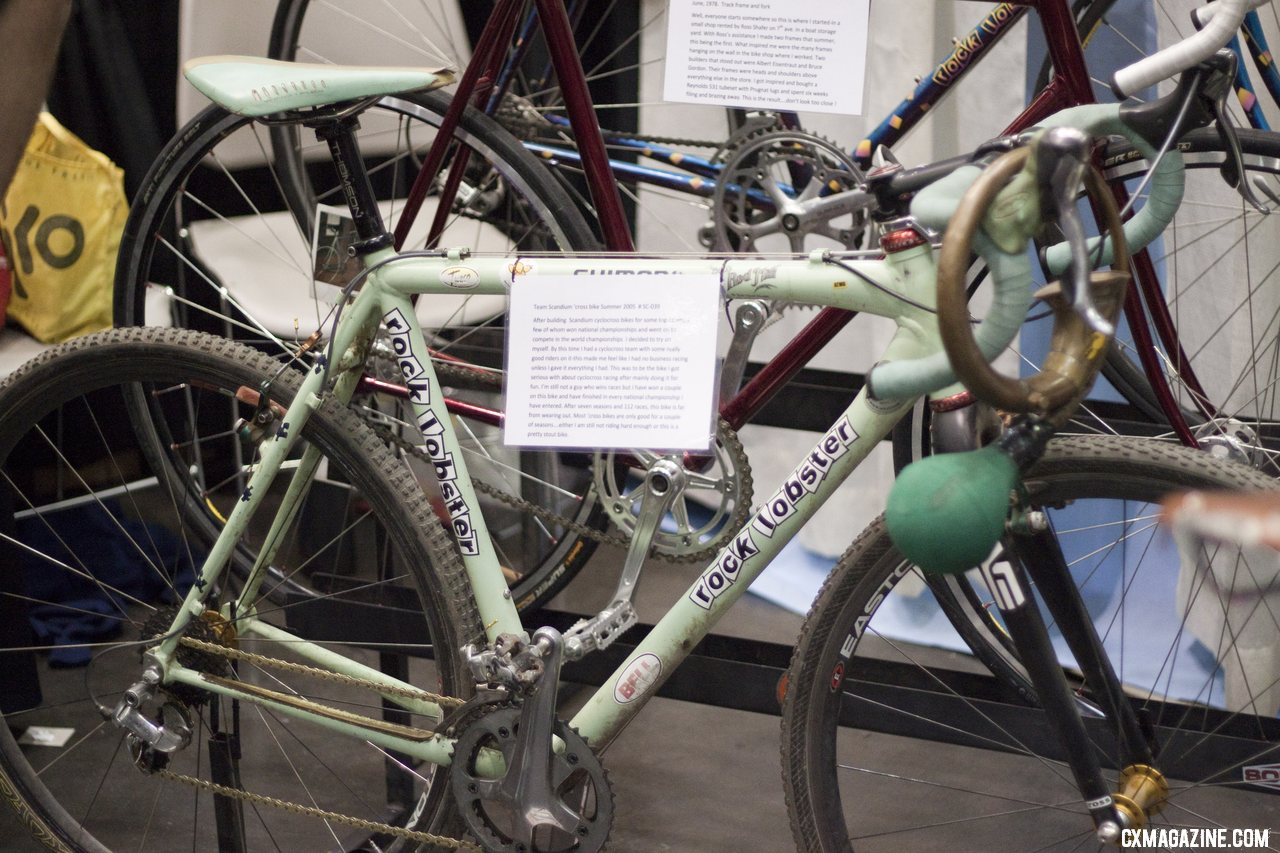Paul Sadoff\'s personal Rock Lobster team bike at NAHBS 2012. ©Cyclocross Magazine