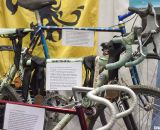 Rock Lobster with bikes from 1978, 2005, and 1992 (front to back) at NAHBS 2012. ©Cyclocross Magazine