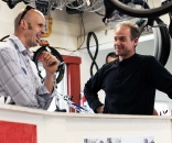 Matt Simpson charms the owner of Ten Speed Spokes. ? Natalia McKittrick