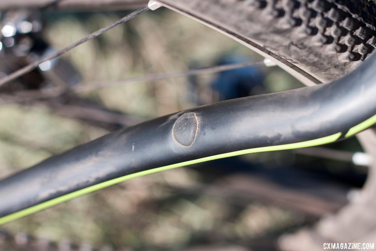 The Pivot Vault has the option to run either disc or cantilever brakes. When not in use, the cantilever mounts are plugged to keep dirt out.  © Cyclocross Magazine