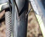 The full-carbon fork has a 1.5 inch taper, and is compatible with both disc and cantilever brakes. © Cyclocross Magazine