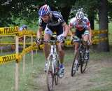 Erwin Vervecken (Revor-Babococ) and Jeremy Powers (Cannondale/Cyclocrossworld) were made to chase early. by Amy Dykema