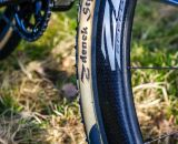 Zdenek STYBAR's name on the tyre at the first official training of CX Worlds Hoogerheide - Hoogerheide, The Netherlands - 30th January 2014 - Photo by Pim Nijland / Peloton Photos