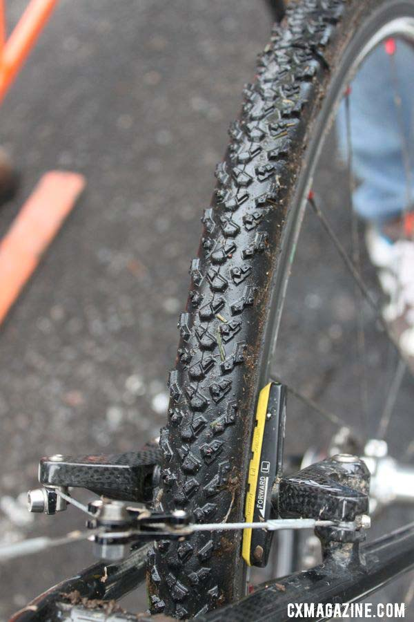 The Michelin cyclocross Mud2-treaded tubulars. © Cyclocross Magazine