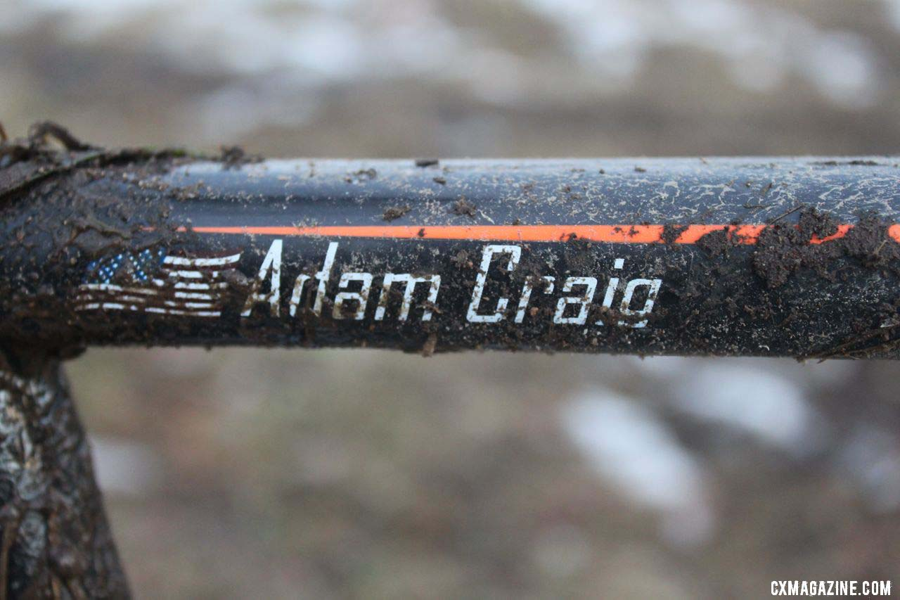 Craig\'s name is one of only five decals on the bike. © Cyclocross Magazine