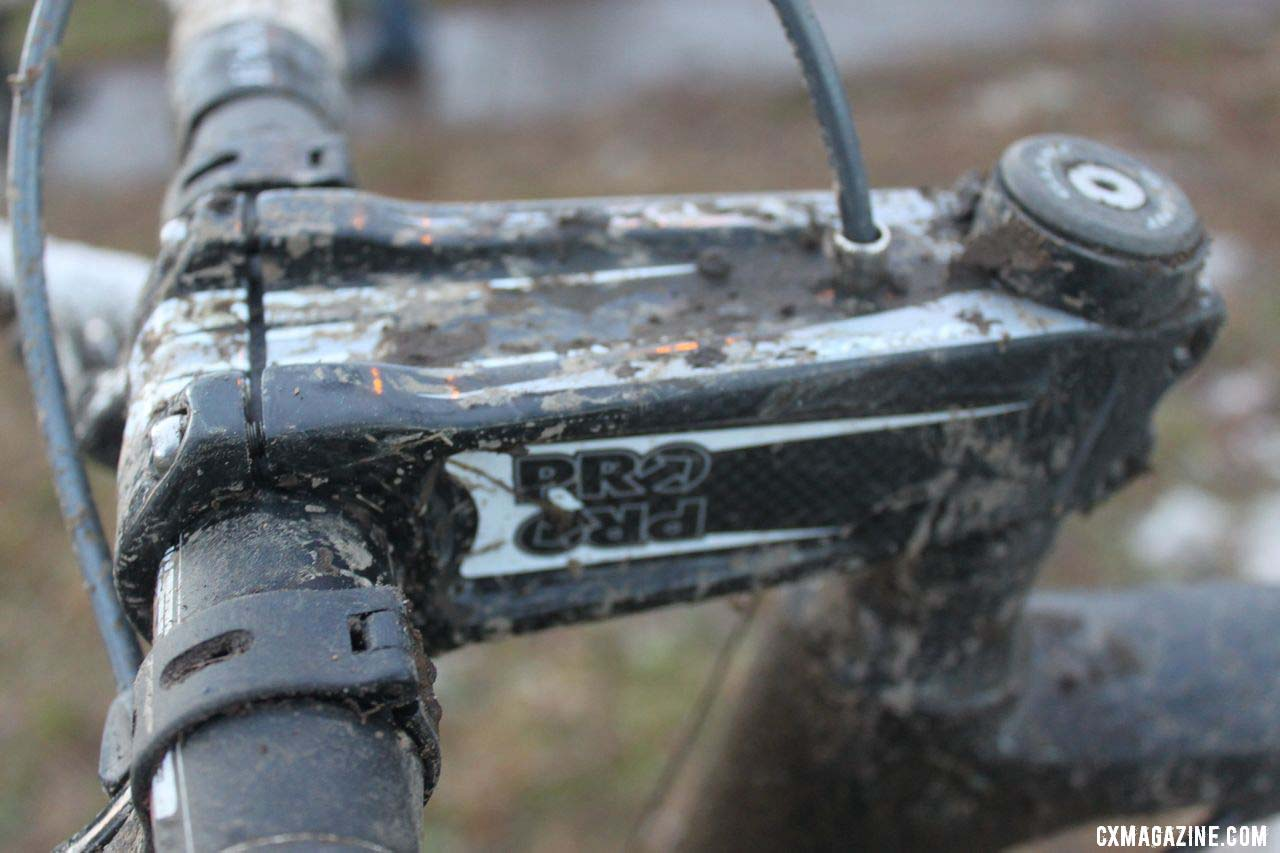 The ultra-stiff stem Craig uses is a downhill model. © Cyclocross Magazine