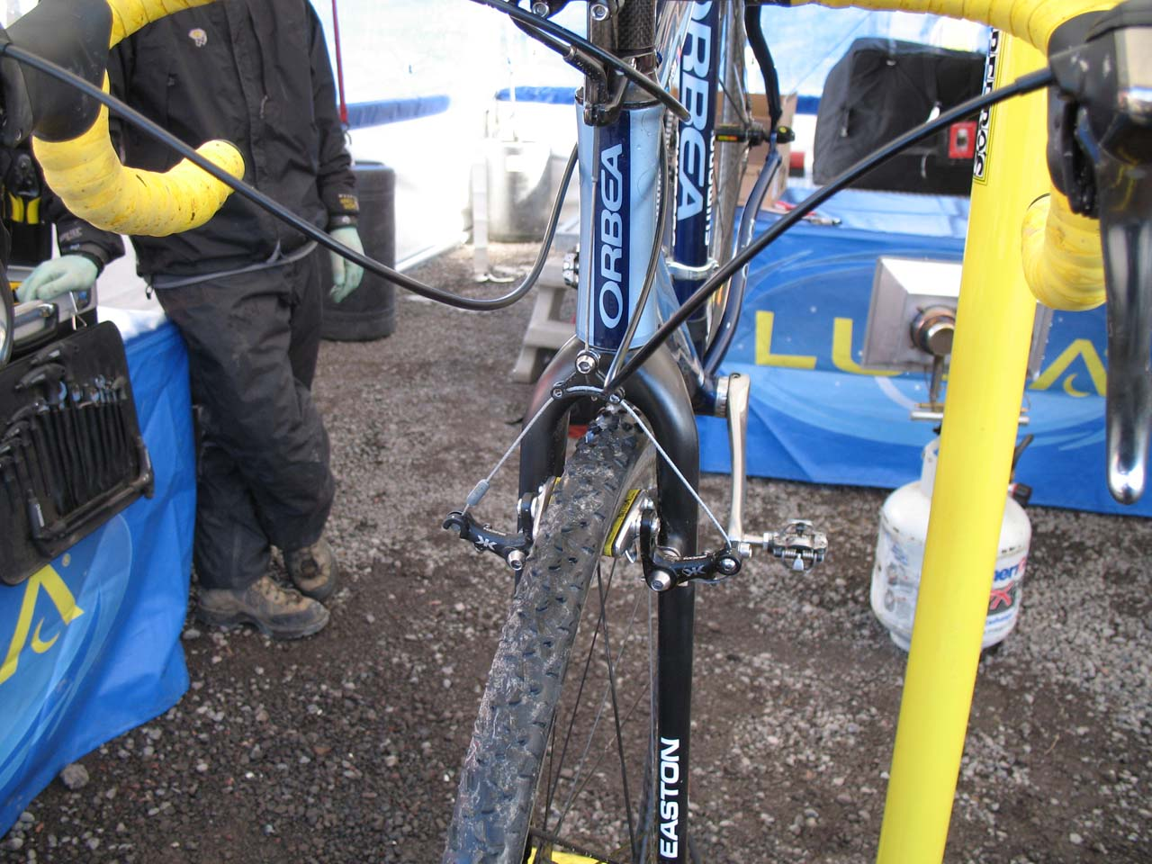 Dunlap runs the Kore brakes that have been seen on other pro bikes this season. ? Cyclocross Magazine