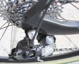 Lisa Jacobs' bike has some custom parts selections compared to the stock offering, including the SRAM X9 Type 2 rear derailleur.  © Cyclocross Magazine
