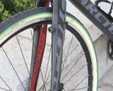 Jacobs' Arctec CX fork, like the seatstays, will accommodate cantilever or disc brakes but the stock model is disc-only. © Cyclocross Magazine