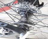 Jacobs' is using Hope Pro2 EVO hubs on her Arctec CX. © Cyclocross Magazine