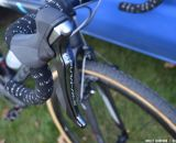 Shimano DuraAce shifters and Fizik bar tape on the Keough Cyclocross team bikes. © Cyclocross Magazine