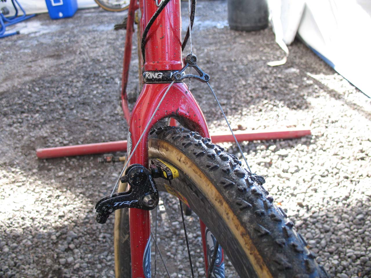 TRP Euro X Carbon brakes are trusted stoppers. ? Cyclocross Magazine