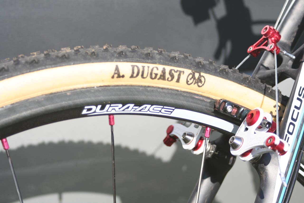Dura Ace and Dugast have bonded well together. © Jamie Mack