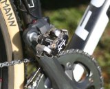 Eckmann stays connected with Shimano Deore XT pedals. © Jamie Mack