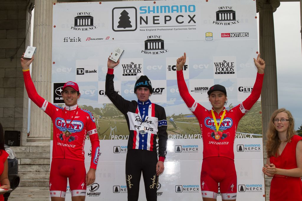 The men\'s U23 points leaders: Kaiser, Eckmann, McDonald. © Todd Prekaski