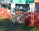 This rider quickly remounted and upped the pace.  © Cyclocross Magazine