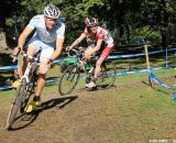 Coming out of the turn, the rider begins to accelerate. © Cyclocross Magazine