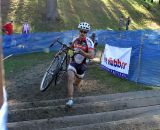 A lone rider tackles the stairs. © Cyclocross Magazine