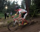 Zach McDonald put his Super D skills to work at the Raleigh Midsummer Night cyclocross race. © Cyclocross Magazine