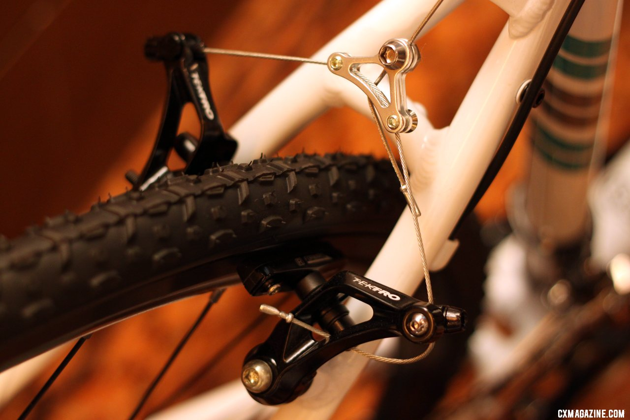 The Tektro CR710 cantilever brake graces several Raleigh models  and has some nice touches including barrel adjusters.  © Cyclocross Magazine