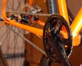 A Shimano Alfine crankset graces the steel Furley cyclocross singlespeed. © Cyclocross Magazine