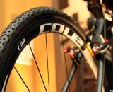 Raleigh opts for the Cole C38 carbon clinchers for weight savings, but we'd imagine many will swap them out on race day for tubulars.  © Cyclocross Magazine