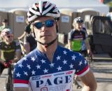 Jonathan Page shows off his fourth Elite Men's National Championship jersey. © Cyclocross Magazine