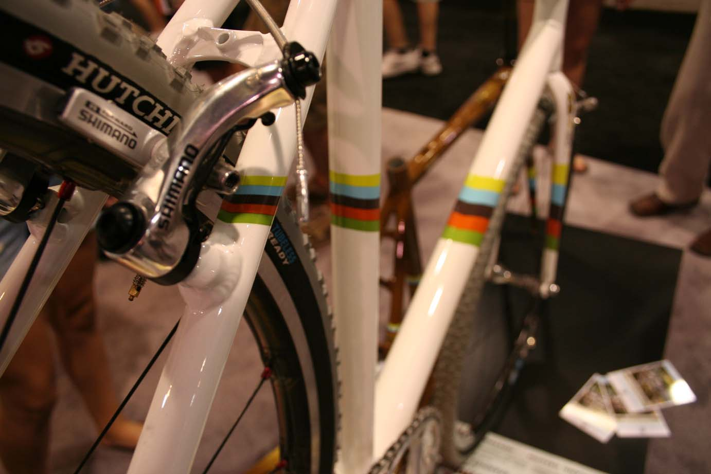 Raleigh gives the White Frame a special edition World Championsip color scheme. by Andrew Yee