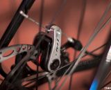 TRP's dual-piston mechanical disc brake handles the stopping duty on the Raleigh Tamland 1. © Cyclocross Magazine