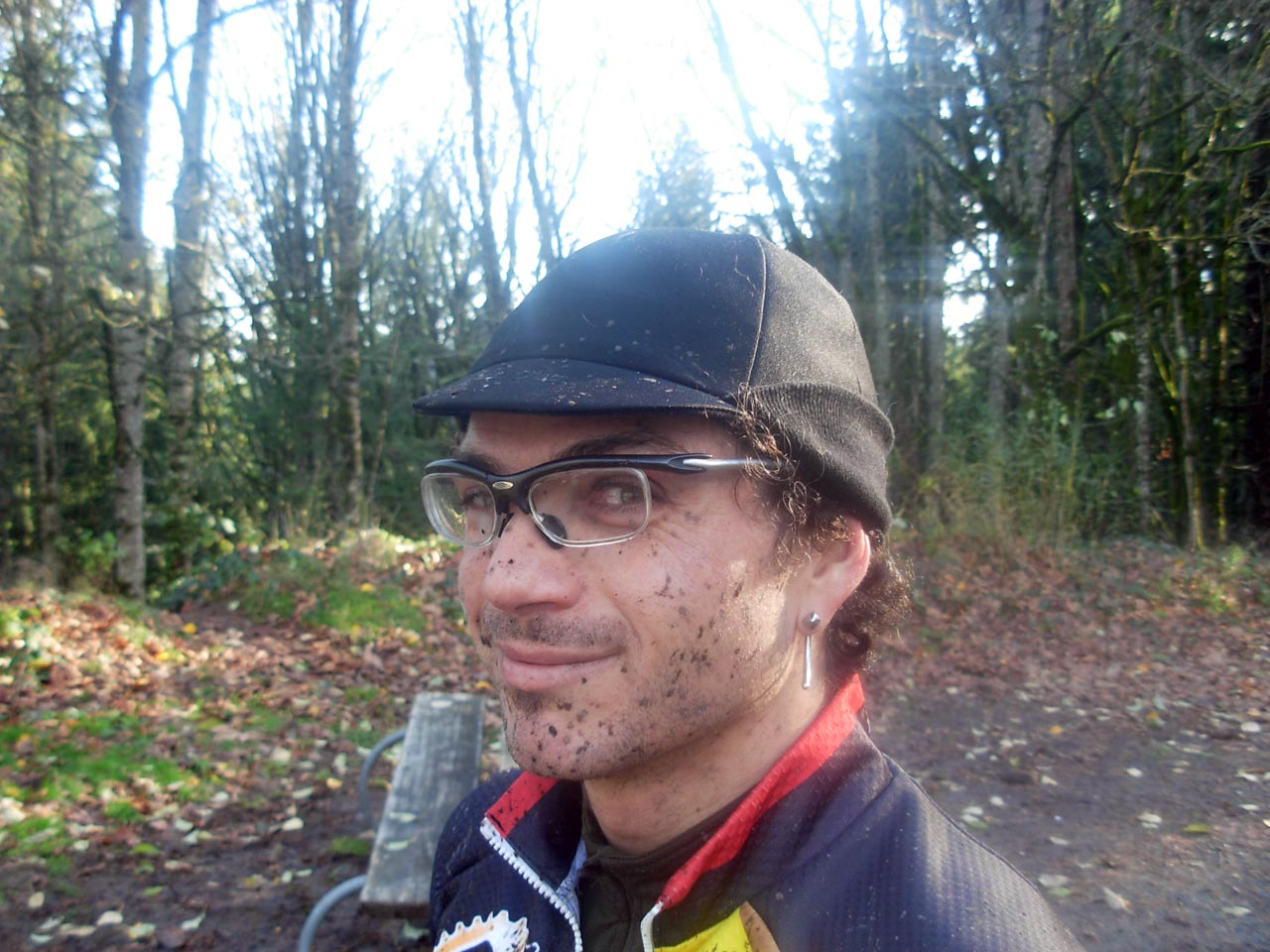 Rapha's Belgian-style winter hat, here with earflaps up ? Josh Liberles