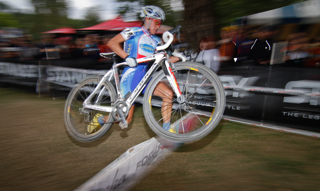 Starcrossed: Katarina Nash taking the last barrier on her way to the win. © Doug Brons