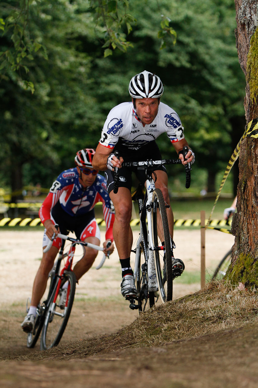 Rapha Focus GP: Jonathan Page and Todd Wells chasing the two Belgian riders. © Doug Brons