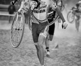 Starcrossed: Rob Peeters tried to ride the sand but ended up running. © Doug Brons