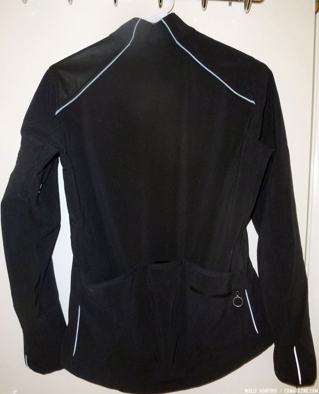 Note the reflective piping on the Rapha Women\'s Classic Softshell Jacket. © Cyclocross Magazine