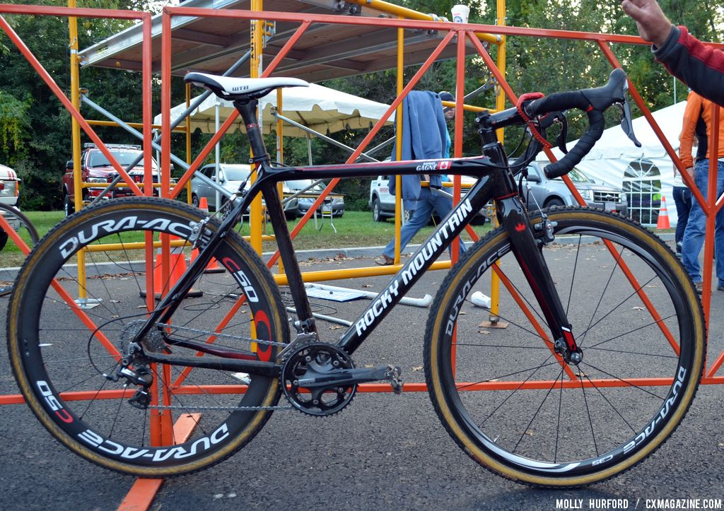 Gagne\'s special Team Edition carbon Rocky Mountain Solo CX. © Cyclocross Magazine