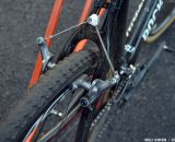 Shimano CX70 cantilever brakes on Raphael Gagne's bike. © Cyclocross Magazine