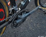 Shimano Dura-Ace compact crankset, with 34/46 rings. © Cyclocross Magazine