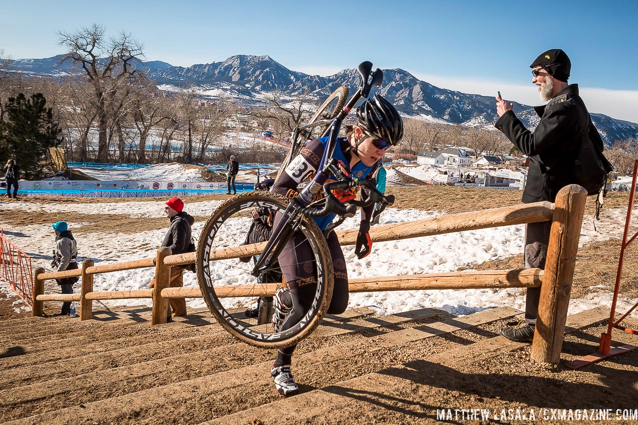 Beth Ann Orton in the women\'s 30-34 race at USA Cycling National Championships of Cyclocross. © Matt Lasala