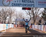 Taking the win in the women's 30-34 race at USA Cycling National Championships of Cyclocross. © Matt Lasala