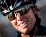 Rebecca Gross post-race in the women's 30-34 race at USA Cycling National Championships of Cyclocross. © Matt Lasala