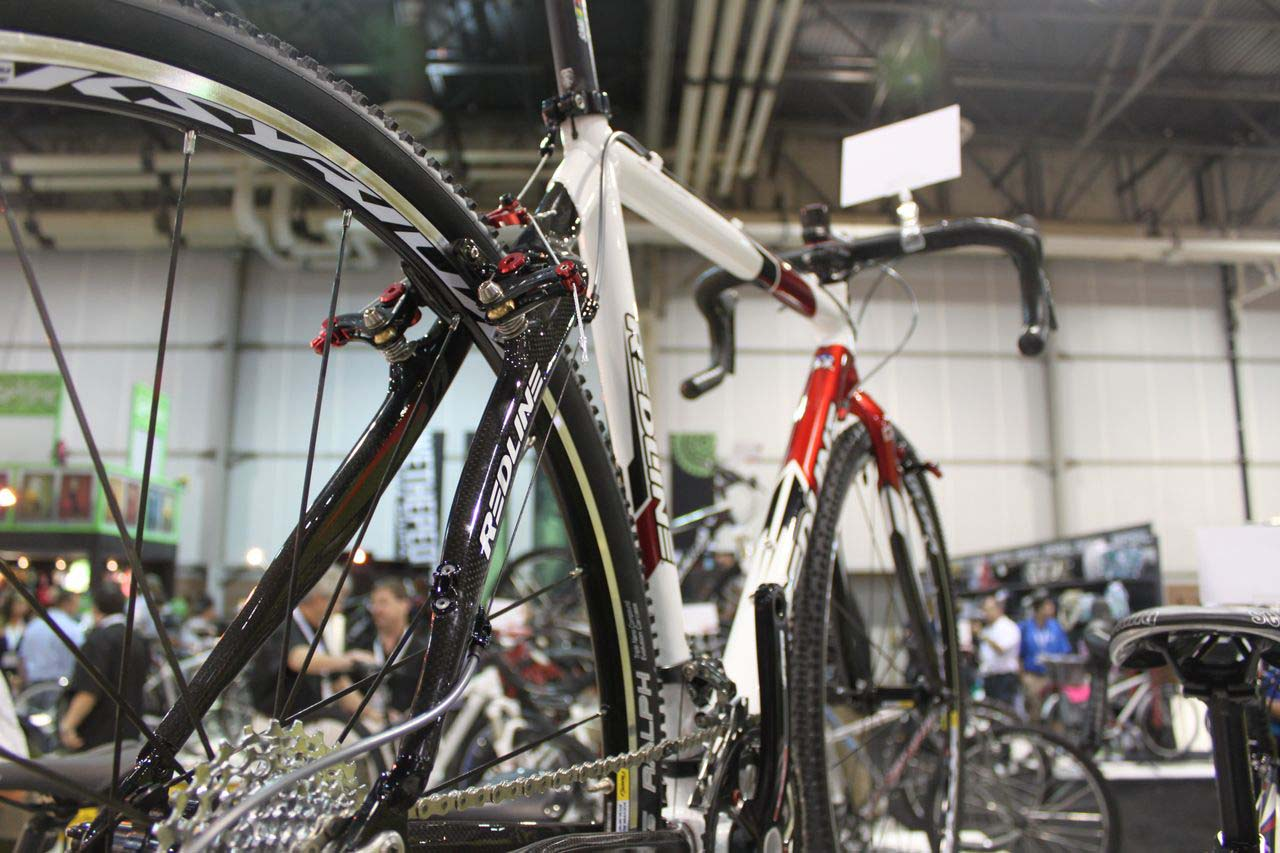 Carbon stays lighten the Team frame. © Cyclocross Magazine