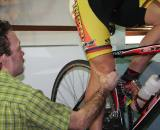 There's some old-school bike fit eyeballing before we even get technical ? Brody Boeger